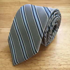 Haines & Bonner of London Neck Tie - Grey and Navy